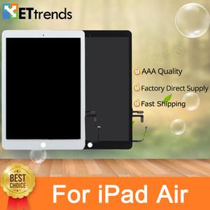 Montaje de pantalla táctil de alta calidad con piezas de reparación originales para iPad air con botón de inicio 3M adhesivo DHL envío gratis