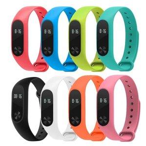 다채로운 실리콘 손목 스트랩 팔찌 원래 Miband 2 Xiaomi Mi 밴드 2 Wristbands에 대 한 10 색 교체 시계 밴드