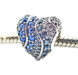 يصلح لباندورا سوار سحر الفضة 925 الخرز فضفاض الأصلية لصنع المجوهرات أكوا سحر القلب فضة 925 مجوهرات 2018 الربيع