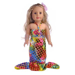 18 pouces poupée vêtements queue de sirène maillot de bain maillot de bain pour 18 '' American Girl notre génération mon chemin de la poupée accessoires