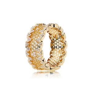 LouLeur 925 стерлингового серебра СОТа кольца золотой цвет Циркон мода 925 серебряные кольца для женщин свадебные украшения для подвески
