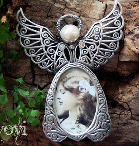 Hot Arts Molduras de metal Vintage Mini marcos de fotos Lovely Angel Style Classic Picture Photo Frame para la decoración del hogar y regalos