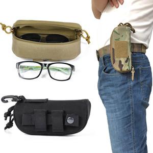 Тактический Molle молния очки чехол 1000D нейлон анти-шок жесткий раскладушка очки носить солнцезащитные очки сумка с Pom клип