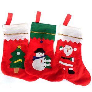 3pcs Santa Stocking Filler Bas de Noël Candy Gift Holder Famille Ornement (type aléatoire)