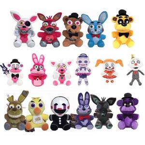 Peluş Bebekler Beş Gece oyuncak peluş Freddy Fazbear Mengeneden Foxy chica Bonnie Oyuncak Bebek Kardeş Yer Ücretsiz Kargo dolması