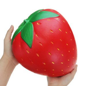 Huge Strawberry jumbo Squishies Slow Rising Soft 25cm Big Fruit Squishy Kids Adult fun Squeeze toy Collection Gift Anti stress
