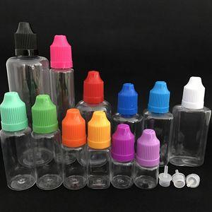 5 ml 10 ml 20 ml 30 ml 50 ml Boş Yağ Şişesi Ile Pet Plastik Damlalık Sıvı Şişe Geçirmez Kap Depolama Örnek Şişe WX9-502