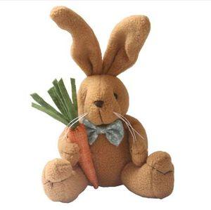 25см Cute Кролик плюшевые куклы Kawaii чучела животных Игрушка День святого Валентина подарка Розовый Кролик Кукла Улыбающиеся Банни кукла чучело куклы