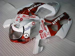 Бесплатный пользовательский комплект обтекателя для SUZUKI GSXR600 GSXR750 2001 2002 2003 белый красный GSXR 600 750 01 02 03 обтекатели QQ25