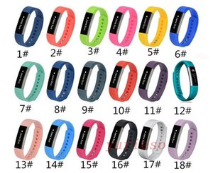 18color 2018 Newest Silicone Watch band Bracelet Wrist Strap For Fitbit Alta Smart Watch No Tracker L S size Pk Fitbit charge 2
