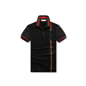 Mens PoloShirts Mulheres Verão Camisa Polo Dos Homens Soltos Respirável Listrado Carta de Impressão Moda Estilo Casual Camisa Itália
