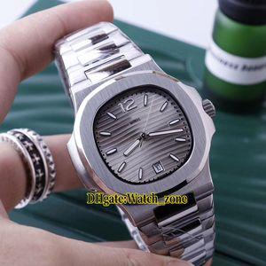 New Sport Nautilus Date 7118 / 1A-011 7118 / 1A A2813 Автоматическая Серый циферблат Мужские часы из нержавеющей стали с ремешком из нержавеющей стали Высококачественные мужские наручные часы