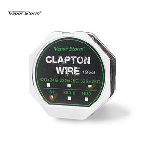 15 Pies Tormenta de Vapor Clapton Wire 32G * (28G * 26G * 24G) Cable de Calefacción RDA RBA RDTA Reconstruir Bobina Atomizador DIY Acessories
