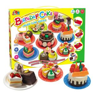 Série d'argile couleur Ensemble de pâte à modeler Outils de pâtisserie Outils de pâtisserie Bricolage Gâteau Biscuit Non toxique Aucune stimulation pour la peau Enfants Maison de jeu