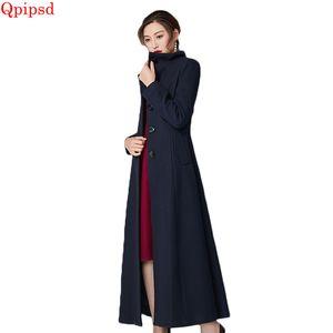 Yüksek dereceli yün ceket 2018 sonbahar kış yeni uzun yün ceket kaban bayan sıcak yün palto kadın mizaç İnce dış