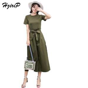 HziriP летние наборы женщины 2018 твердые пр женские костюмы костюм футболка+брюки повседневная женщины набор 2 шт. набор спортивный костюм Vestidos