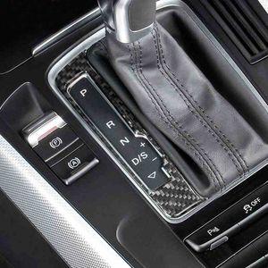 Углеродного Консоли Автомобиля Переключатель Панели Рамы Наклейки Крышка Ручки Передач Украшения Аксессуары Для Audi A4 B8 A5 Q5 Стайлинга Автомобилей