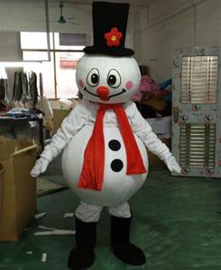 2019 Usine vente directe Noël bonhomme de neige mascotte costume populaire Noël Halloween bonhomme de neige costumes pour Halloween fête fournitures