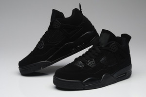 Оптовая 4 IV Черный кот низкий мужчины баскетбол обувь спортивные кроссовки открытый тренеры высокое качество с Размер коробки 7-12