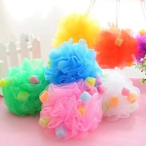 Malha Pufe Bath Esponja Loofah Chuveiro Esponja Malha Esfregão Pufe Bath Ball Chuveiro Macio Flor Colorido