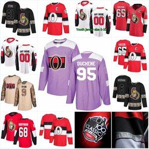 Nova Temporada Camisola Ottawa Senators 41 Craig Anderson 33 Camisolas de Hóquei Mike McKenna 95 Matt Duchene 15 Zack Smith 89 Mikkel Boedker