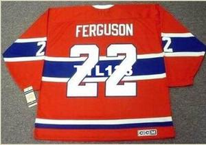 Para hombre # 22 John Ferguson Montreal Canadiens 1968 CCM Hockey Jersey Inicio de época o costumbres, cualquier nombre o número retro Jersey