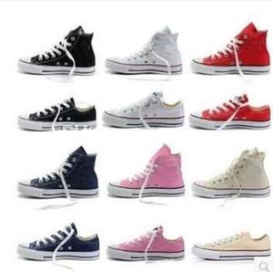 2018 뜨거운 판매 새로운 15 색상 모든 크기 35-46 낮은 스타일 스포츠 스타 클래식 캔버스 구두 스 니 커 즈 남자 / 여자 캔버스 신발