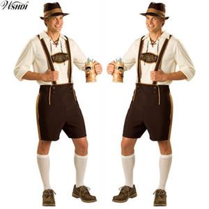 Costume d'Oktoberfest Lederhosen Bavarois Octoberfest Festival Allemand Bière Halloween pour Hommes Costumes De Bière Plus La Taille M, L, XL, 2XL