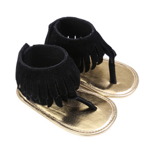 Baby Girls Tassels Shoes Summer Sandal Breathable Infant Shoes Anti-slip Newborn Kids Crib Bebe Footwear 0-18Month 2 Colors