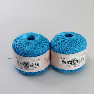 2 ballesX50g Haute qualité 100% coton 1-ply ou LACE Crocheted Yarn A