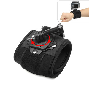 GoPro Hero için 360 Derece Rotasyon El Bilek Kayışı 5 6 3 4 Oturumu Xiaomi Yi 4 K Lite SJ4000 H9 Kol Kemer Git Pro Aksesuar