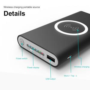 10000 mah Güç Bankası Harici Pil Hızlı Şarj Kablosuz Şarj için Powerbank Taşınabilir Cep Telefonu Şarj iPhone x 8 8 Artı