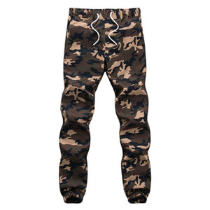 Mens Cotton Pencil Harem Pants Russia Autumn Jogger Camouflage Print Military Pants Loose big size Green Camo Drawstring long Trousers
