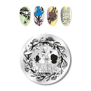 Rettangoli Nail Stamping Plates Template Halloween unicorno Mandala Flower Image Plate Nail Stamping Plate Manicure Tools
