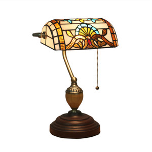 Bedside table lamp European style retro old Shanghai Republic of retro bank lights new creative American desk