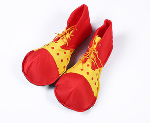 Hombres accesorios de vestuario de las mujeres zapatos de payaso divertido contraste de color a cuadros zapatos realiza accesorios de Halloween Cosplay zapatos envío gratis