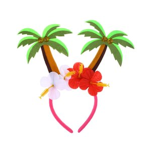 1pc Party Carnival Festival Hair Hoops Head Decoration Coconut Tree Hair Bands Headdress Head Accessory for Adults Kids