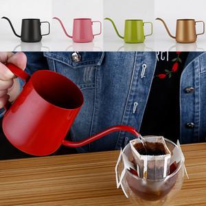 350 мл кофейник из нержавеющей стали гусиная шея залить кофеварка висит ухо капельного кофе длинный носик чайник чай DHL бесплатно WX9-350