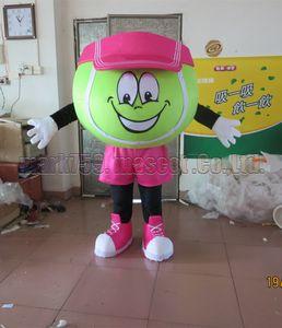Tennis Maskottchenkostüm Freies Verschiffen Erwachsene Größe, Tennisball Maskottchen Plüschtier Karnevalsparty feiert Maskottchen Fabrikverkäufe.