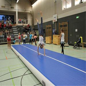 2 m genişliğinde 20 cm kalın Airtrack Şişme Hava parça Yuvarlanan Mat Jimnastik Takla Parça Hava Kat Mat L * 2 m * 0.2 m ev gym için su yoga