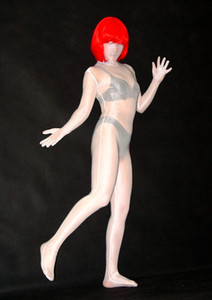 5 Color, Wholesale S-XXL Sexy White   Red Silk Lycra Zentai spandex Unisex catsuit