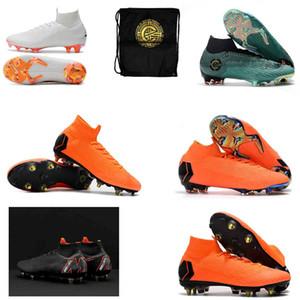 Erkek Yüksek Ayak Bileği Futbol Çizmeler CR7 Mercurial Superfly VI 360 Elite FG SG AC Futbol Ayakkabıları Superfly 6 ACC Açık Futbol Cleats