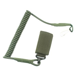 Elastic Anti-lost Tactical Stretching Airsoft Rope Anti-Theft Key Hanging Retractable Paintball Accessories new Pistol Lanyard wholesale