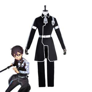 Japanische Anime Schwert Art Online Cosplay Kirito Cosplay Kostüm Kazuto Kirigaya Full Set Männer Cosplay Kostüme