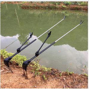 Haste De Peixe Stand Suporte Ângulo Varas De Pesca Ajustáveis Titular 1.7 M 2.1 M Ferramenta de Pesca Telescópica Mão Vara Titular