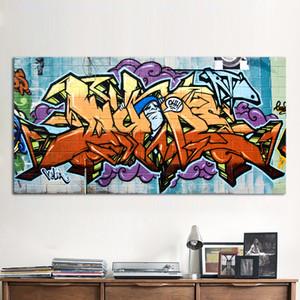 Wildstyle graffiti painting الشارع قماش تجريد كتابات الفن جودة عالية اليدوية النفط الطلاء على قماش متعدد الأحجام / خيارات الإطار g22