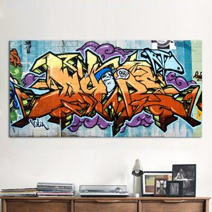Wildstyle Graffiti Painting Street Canvas Absract Graffiti Art Pittura a olio fatta a mano di alta qualità su tela Varie dimensioni / Opzioni cornice g22
