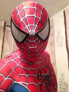 Erstaunliche Spider-man-Kostüm 3D Original Film Halloween Cosplay Spandex Spiderman Kostüm Erwachsene Klage Heißer Verkauf Freies Verschiffen