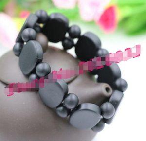 Black Sinbin bian stone Bracelets Bracelet Jonc Balck Jade Bracelet hommes / femmes