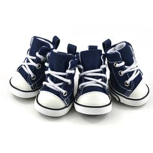 Pet Köpek Ayakkabı Kovboy Tuval Ayakkabı Ayıcık Ayakkabı Spor Rahat Kaymaz Çizmeler Sneaker Ayakkabı Köpekler Giysileri Pet Malzemeleri 17cy gg